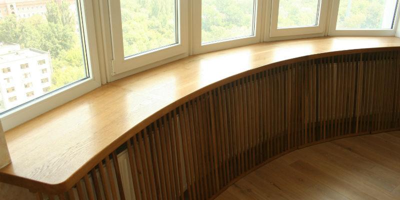 Столешницы для кухни из массива дуба, ясеня, бука